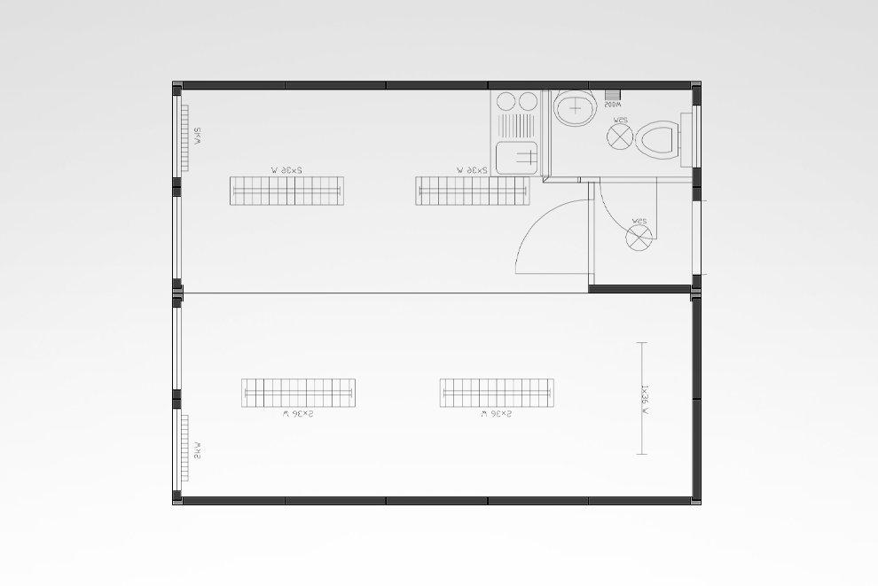 Doppelanlage mit WC und Kleinküche