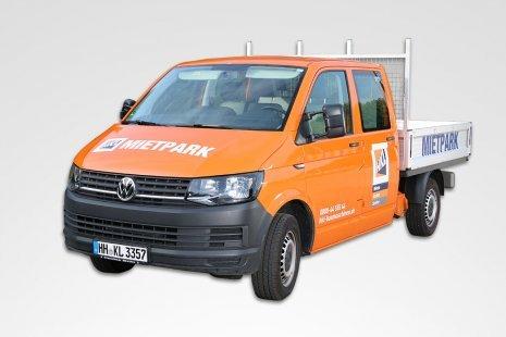 Volkswagen Transporter T6 Pritschenwagen Doka mieten
